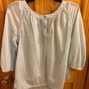 Tommy Hilfiger Light Blue Blouse, Size Medium